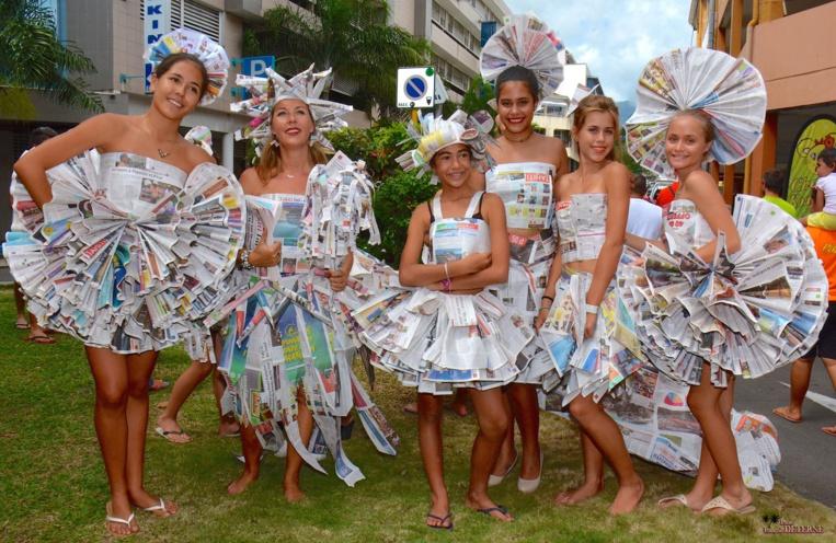 """De la """"haute couture éphémère """", une belle manière de recycler les vieux Tahiti Infos"""