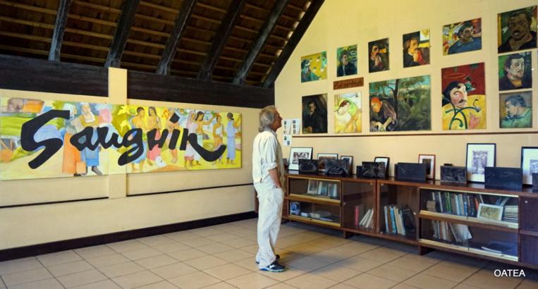 Visite du centre culturel Paul Gauguin, à Hiva Oa.