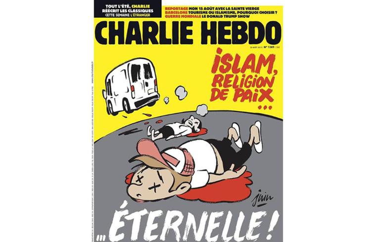 La une de Charlie Hebdo sur les attentats en Catalogne fait débat