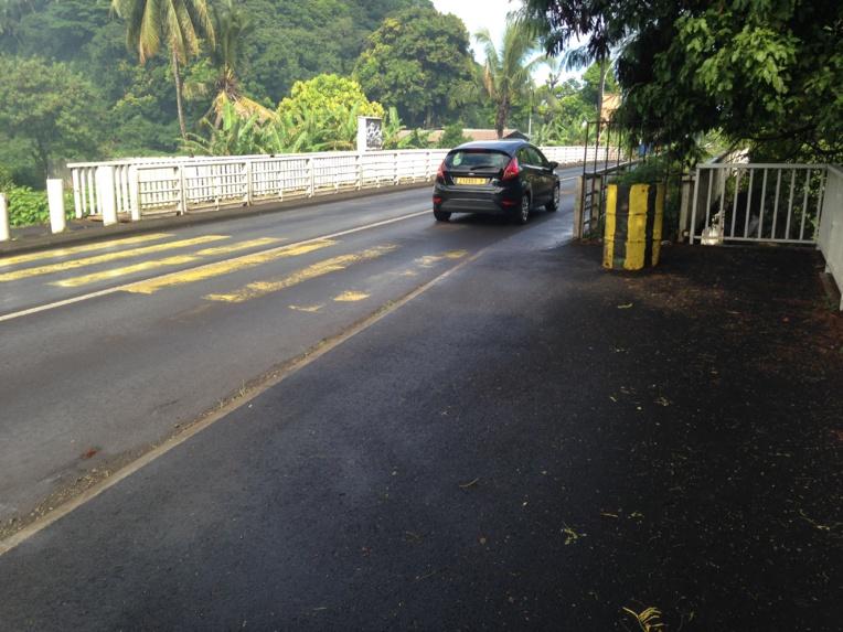 Mahina : les travaux de la passerelle du pont de la Tuauru ont été reportés à demain