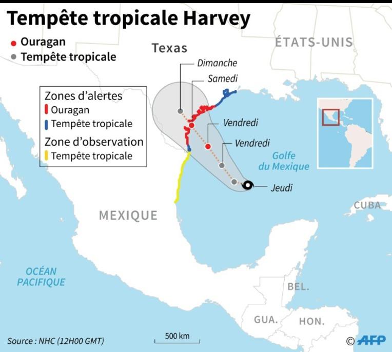 """Harvey s'annonce """"dévastateur"""", le Texas demande l'aide du gouvernement"""