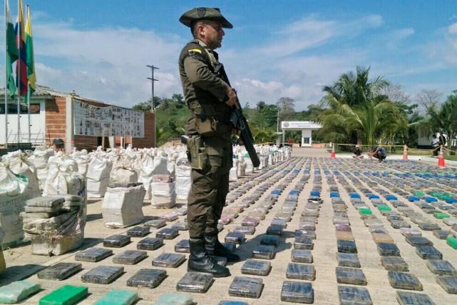 Près de sept tonnes de cocaïne de Colombie saisies en une semaine