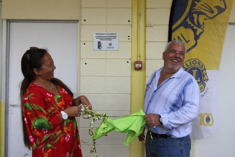 Après les intempéries, le Lions Club consacre un million de francs à l'école de Taaone