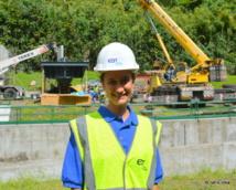 Marama Nui pose sa nouvelle turbine écolo