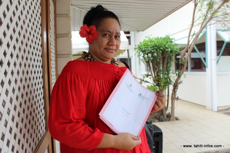 Tatiana Teuiau, 46 ans, a dû être logée par la famille après les intempéries.