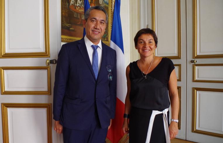 Marcel Tuihani rencontre la ministre des Outremer