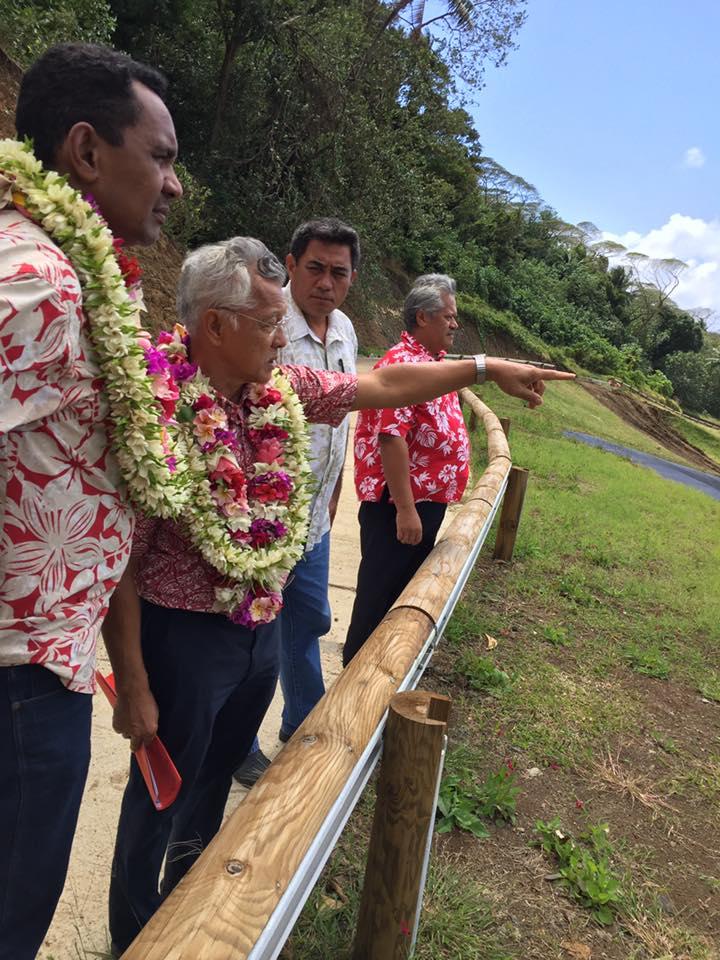 Tearii Alpha en visite à Bora Bora pour une réunion de travail