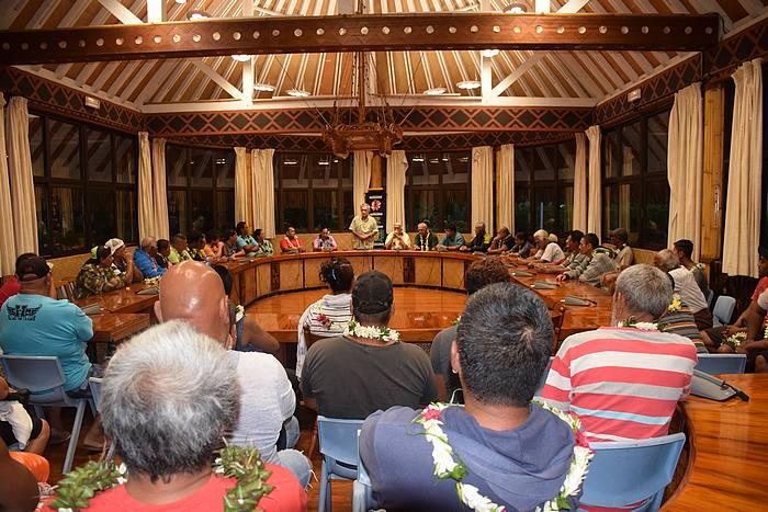 Une réunion d'information a eu lieu jeudi dernier à la mairie de Faa'a, entre le tāvana et les pêcheurs.