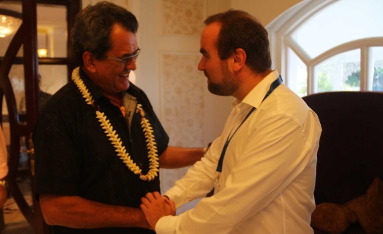 Le Secrétaire d'Etat, Sébastien Lecornu, en visite en Polynésie