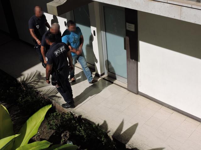 Saisie d'ice : les quatre trafiquants présumés à Nuutania