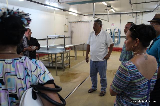 La délégation a également visité les locaux de la société privée.