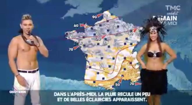 Insolite: Ken Cartler fait la météo de Quotidien en tahitien sur TMC
