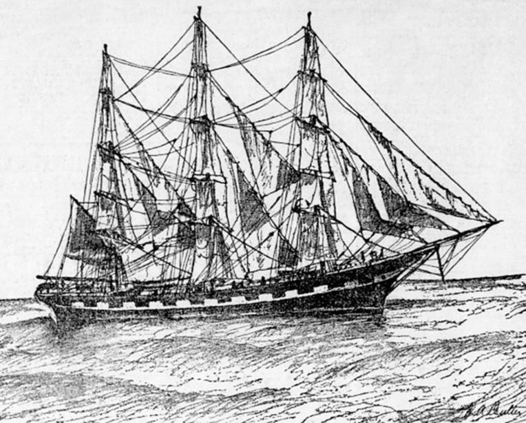 Le «Ravenscrag», navire qui permit en 1879 au ukulele de faire son entrée à Hawaii: il devint le «SV Armenia» en 1901, et navigua jusqu'à son échouage sur une rive du Saint-Laurent, au Québec, le 27 août 1907.