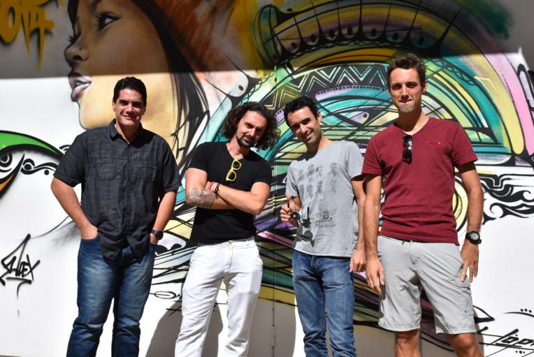 L'équipe de l'animation : les Studios Hashtag et le réalisateur Nyko PK 16 (2e en partant de gauche).