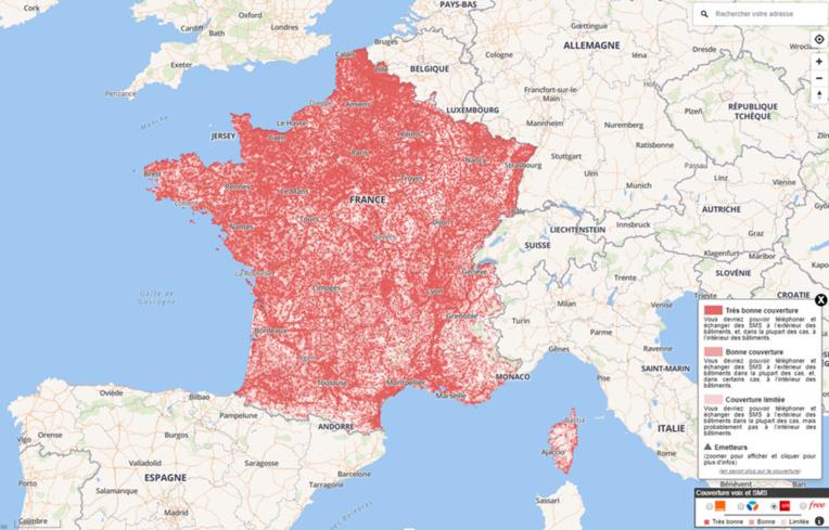 Retrouvez la carte interactive sur www.monreseaumobile.fr