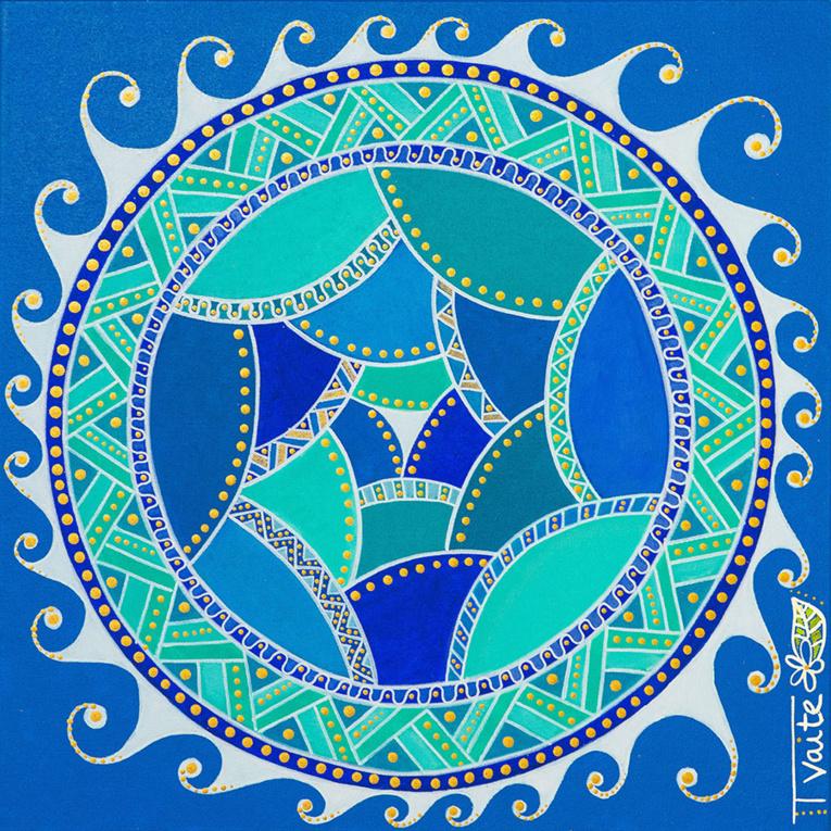 Adepte de la méditation, Tvaite affectionne particulièrement les mandalas.