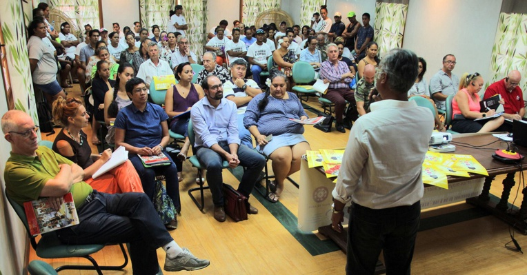 Une réunion de présentation de la journée avait lieu ce mardi à la mairie de Arue. (Photo : mairie de Arue)