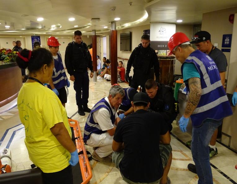 Exercice antiterroriste au port autonome de Papeete