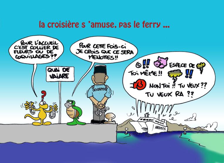 """ Bagarre dans l'Aremiti "" par Munoz"