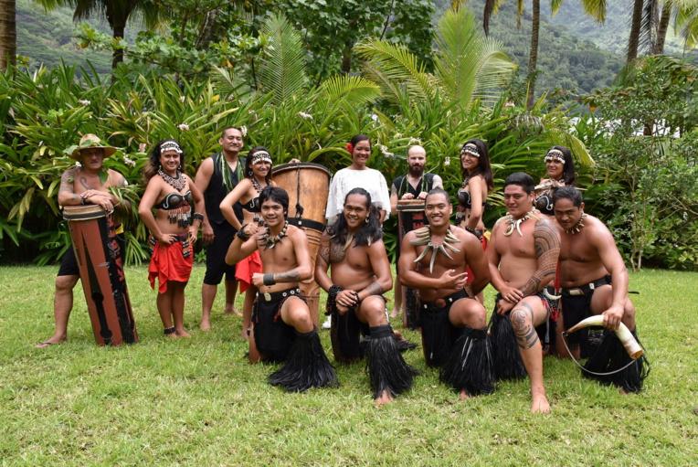 La troupe de danse marquisienne Te Kaipeka. (Crédit photo : Polynésie 1ère)