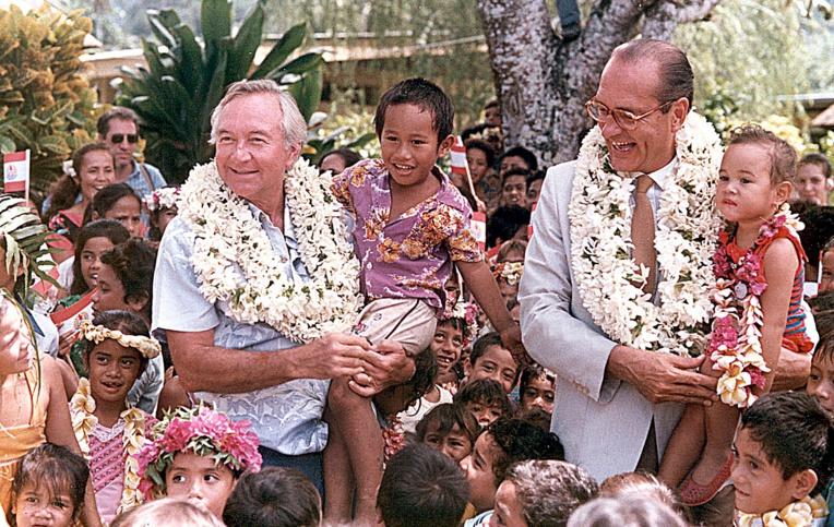 """Avec Jacques Chirac en 78 """"La Polynésie doit faire attention a sa jeunesse """""""