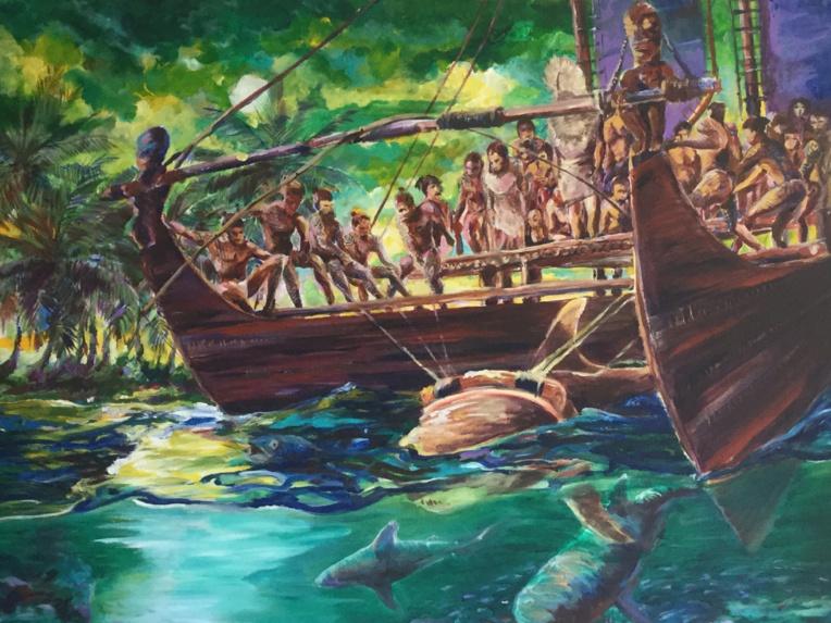 Exposition « Ruahatu » du Peintre Ramana Natua à la Galerie des Tropiques