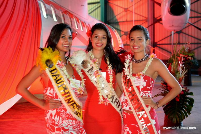 Miss Tahiti, Miss Heiva et la première dauphine étaient aussi présentes