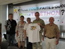L'AFM-Téléthon de Polynésie a réuni une partie de ces bénévoles ce mercredi matin pour une conférence de presse afin de lancer la campagne 2017 du Téléthon.