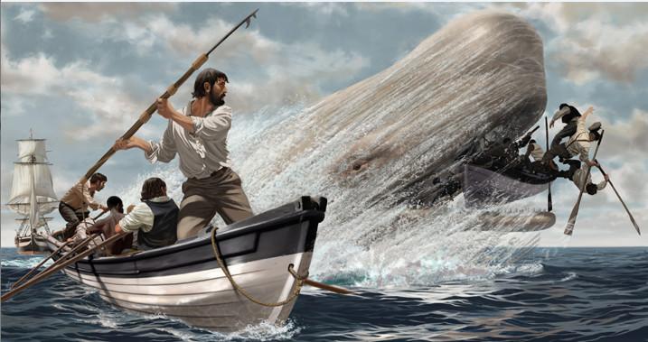 L'invincible Mocha Dick aurait échappé à une centaine d'attaques par des baleiniers. Ceux qui tuèrent le cachalot blanc trouvèrent vingt harpons fichés dans son corps.