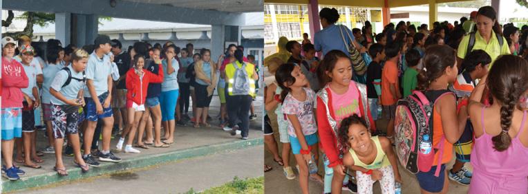 Exercice tsunami à Mahina : 1 850 élèves évacués en moins d'une(...)