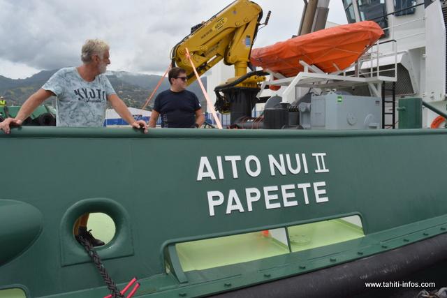 Le Aito Nui 2 a été piloté par l'équipage de la société de construction hollandaise Damen Shipyards.