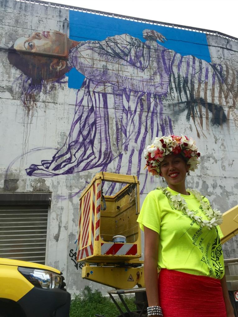 La polynésienne peinte par l'artiste australien Fintan Magee.