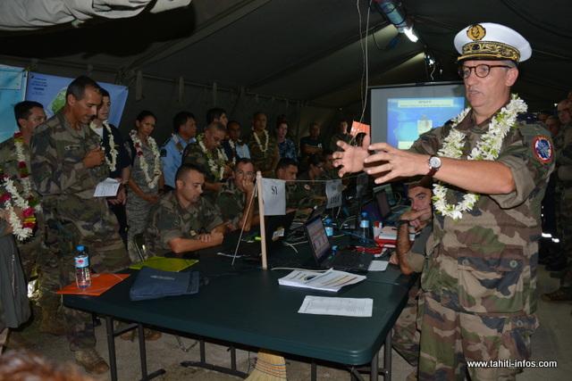 Le centre des opérations a été installé à Uturoa. Un lieu stratégique où toutes les informations sont regroupées avant de les faire parvenir au commandement supérieur de Arue.