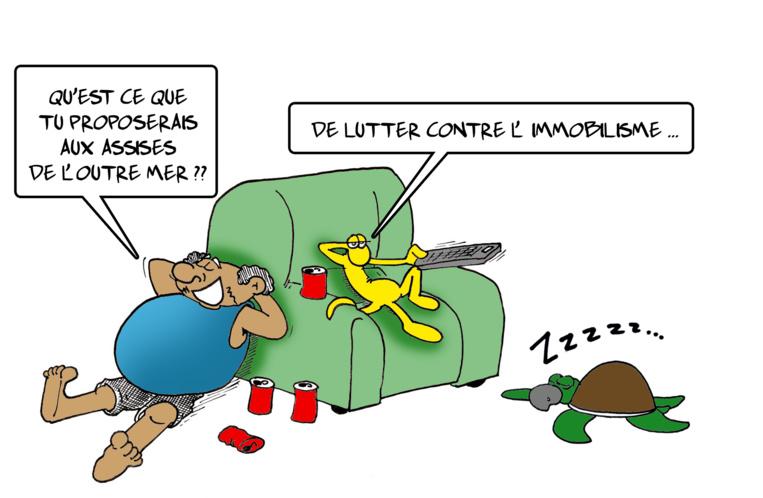 """"""" Les assises de l'Outre-mer """" par Munoz"""