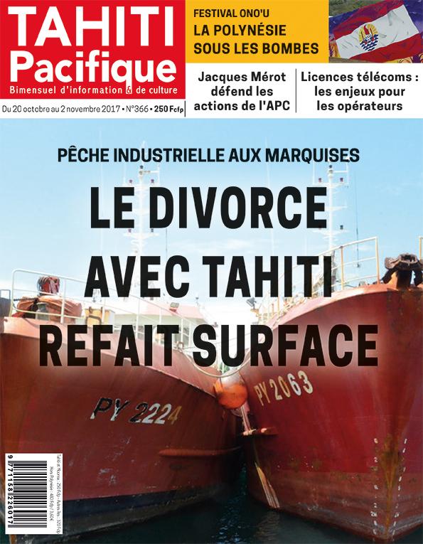 À la Une de Tahiti Pacifique, vendredi 20 octobre