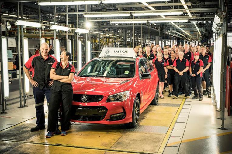 L'industrie australienne produit son ultime voiture, une Holden