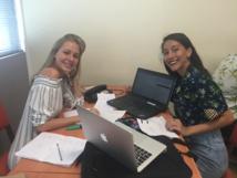 Hinatea Maretto et Laetitia Malet, étudiantes de 1ère année à l'ECT.