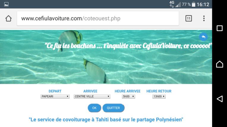 Cefiulavoiture, un nouveau site de covoiturage polynésien