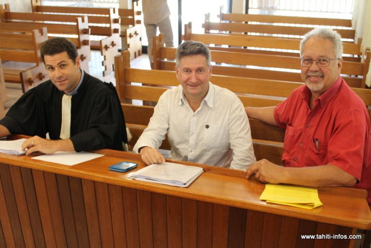 Me Mourad Mikou, Bernard Foray, directeur de Viti et Mario Nouveau, président de la SAS.