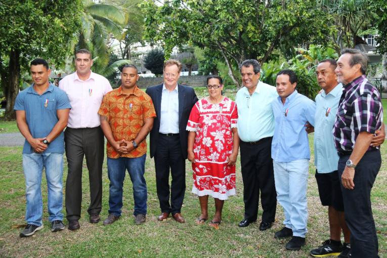Une cérémonie de remise de médailles a été organisée jeudi soir à la résidence du Haut-commissaire à Papeete.