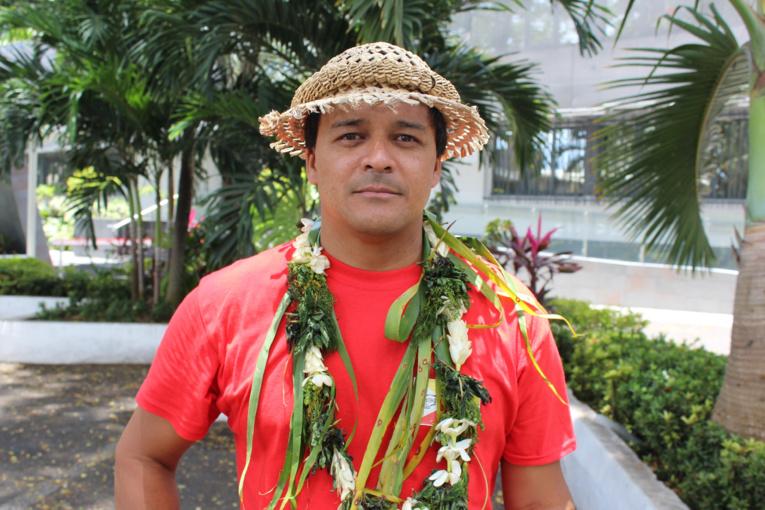 "Pierre Tehotu, représentant du collectif ""A Pakaihi Te Tai Nui"""