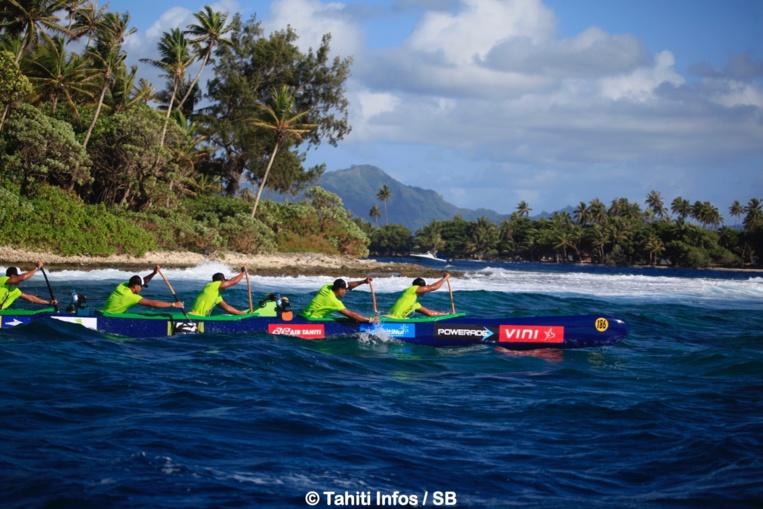 La course des juniors et des femmes se déroule dans le décor grandiose de Raiatea