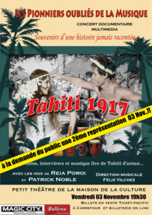 Acclamé par le public le show Tahiti 1917 revient sur la scène du Petit théâtre