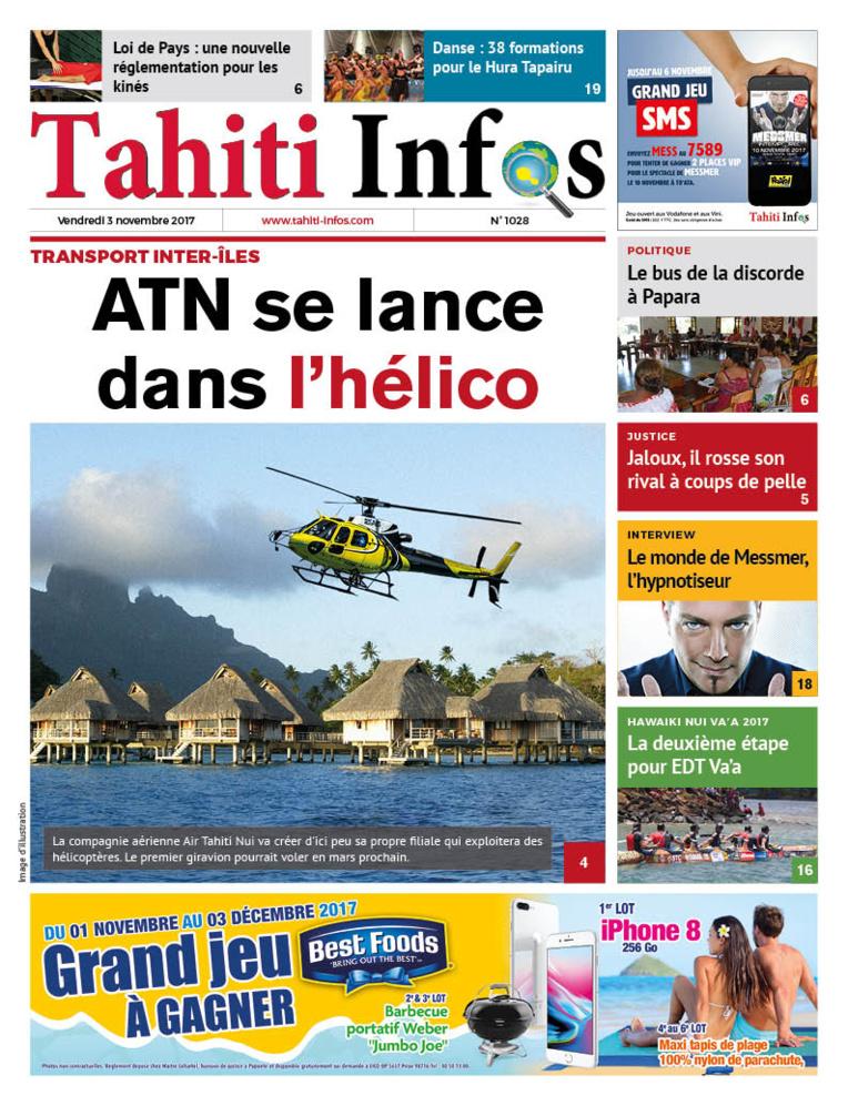 TAHITI INFOS N°1028 du 3 novembre 2017