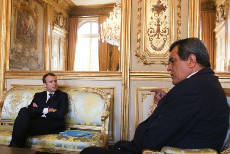 Edouard Fritch sous le charme d'Emmanuel Macron