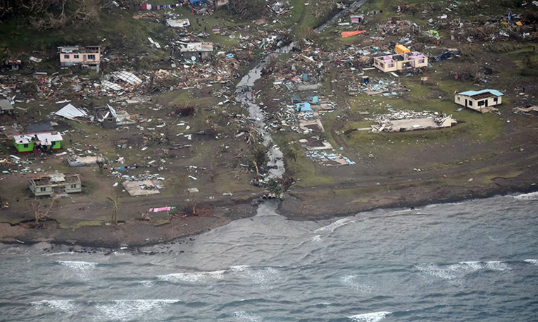 M. Bainimarama rappelle que son pays, où vivent environ un million de personnes, a été dévasté en février 2016 par le cyclone Winston.