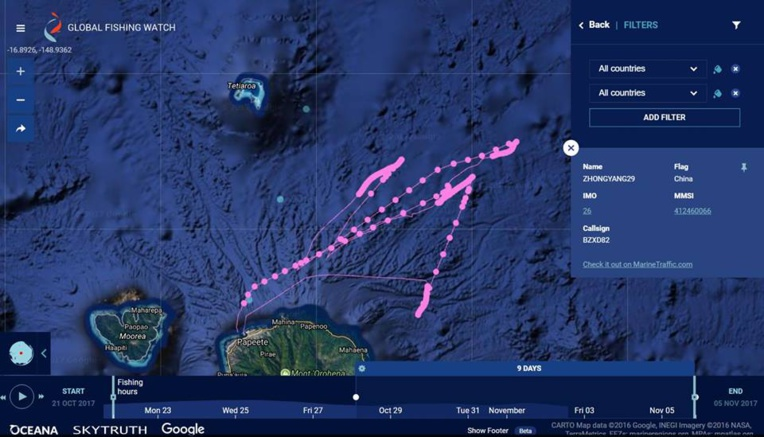 Une carte high-tech pour lutter contre la pêche illégale dans le Pacifique