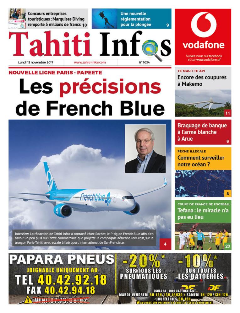 TAHITI INFOS N°1035 du 13 novembre 2017