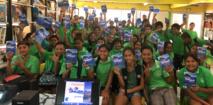 Les collégiens de Fare à Huahine