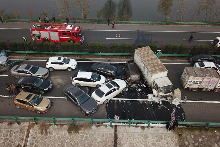 Carambolage en Chine: 18 morts sur une autoroute